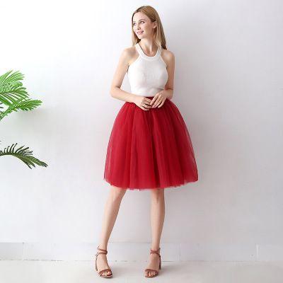 TUTU tylová sukně dámská - tmavě červená 65 cm