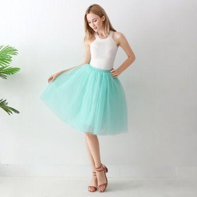 TUTU tylová sukně dámská - mátová 65 cm
