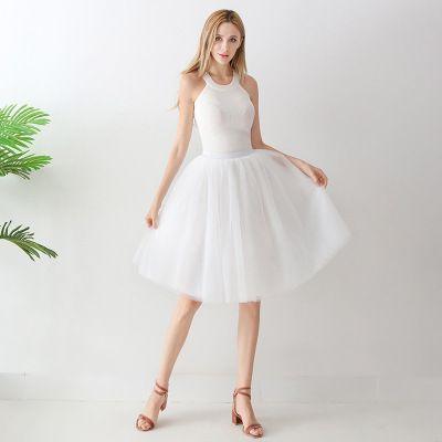 TUTU tylová sukně dámská - bílá 65 cm, 7 vrstev