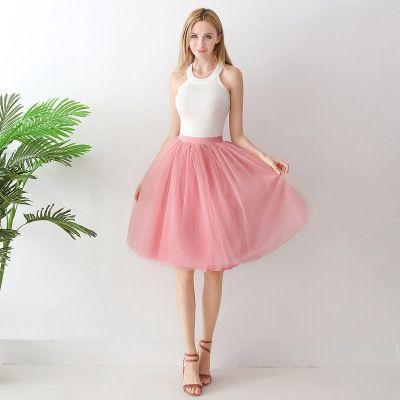 TUTU tylová sukně dámská - růžová 65 cm, 7 vrstev