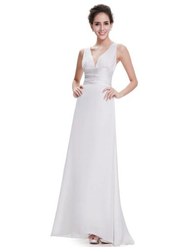Bílé svatební a společenské šaty Ever-Pretty HE09008WH