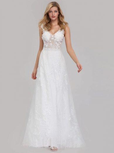 Bílé svatební a společenské šaty Ever-Pretty EZ07832CR