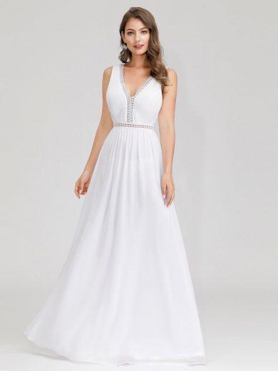 Bílé svatební a společenské šaty Ever-Pretty EP00899WH