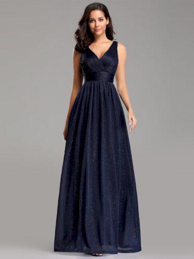 Společenské šaty Ever-Pretty EZ07764NB Modré třpytivé
