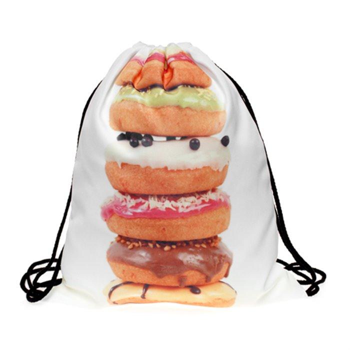 Plátěný vak s 3D potiskem Big Donut Timy F27583BD