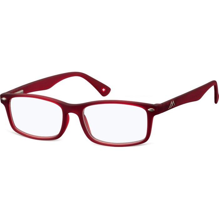 Brýle blokující modré světlo na počítač bez dioptrii MX83B červené Montana BLFBOX83B