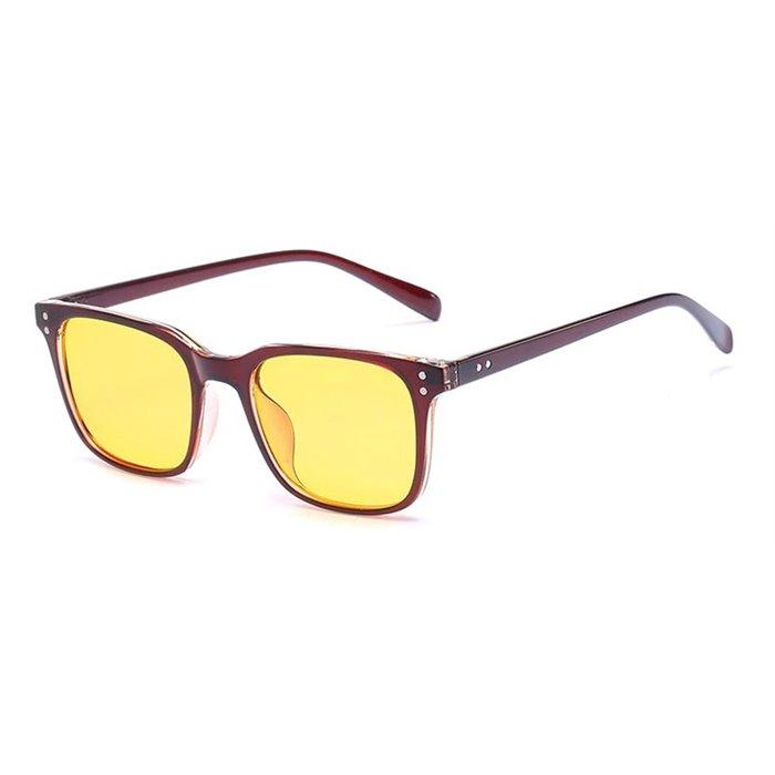 Brýle na počítač pro hráče Anti Blue Ray YWEC9- hnědé Wayfarer style 2052BR