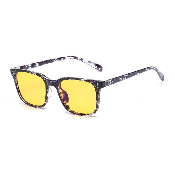 Brýle na počítač pro hráče Anti Blue Ray YWEC11- Černé žíhané Wayfarer style 2052ZH