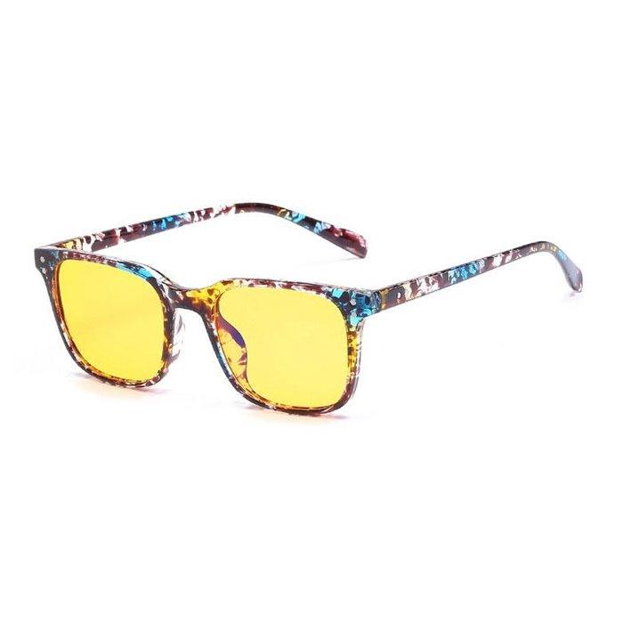 Brýle na počítač pro hráče Anti Blue Ray YWEC12- Flowers žíhané Wayfarer style 2052FL