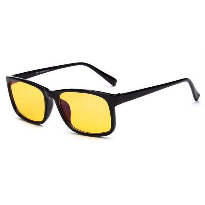Brýle s filtrem modrého světla bez dioptrii KWE11- Černé Wayfarer style 8012-BC