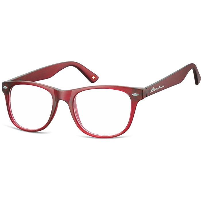 Brýle blokující modré světlo na počítač bez dioptrii MX67 červené Montana BLFBOX67RED