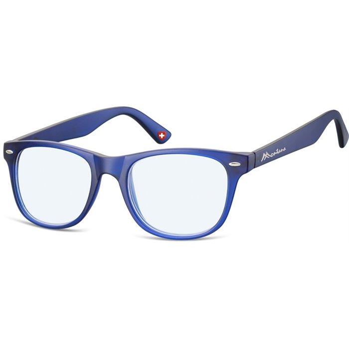 Brýle blokující modré světlona počítač bez dioptrii MX67 modré Montana BLFBOX67BLU