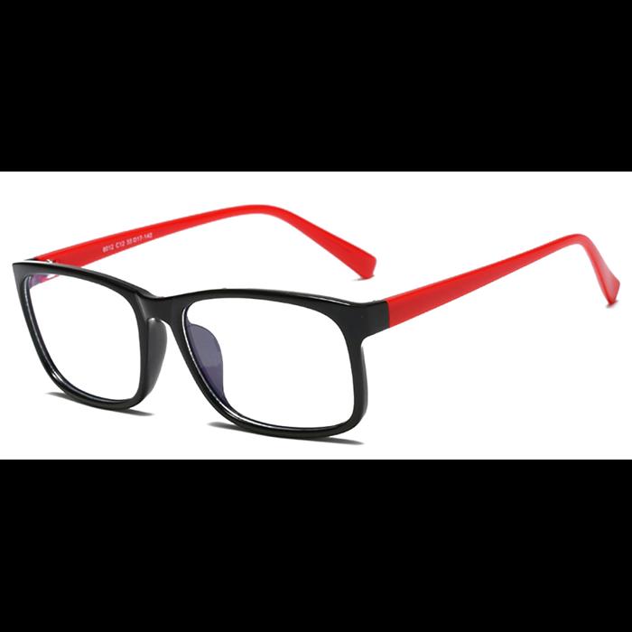Brýle blokující modré světlo na počítač C8012 Červené Wayfarer style 8012-BC