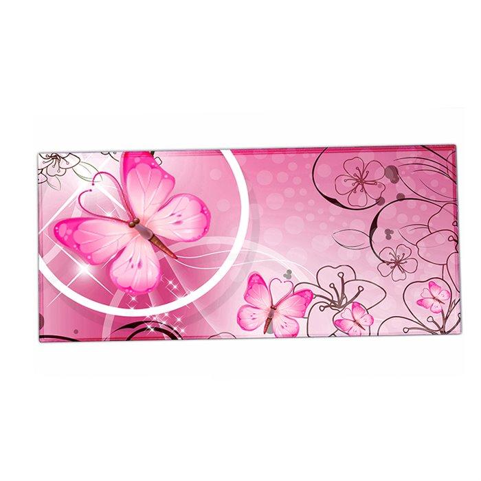 HUADO podložka na stůl 90 cm x 40 cm Motýlek růžový Huado XM-25579