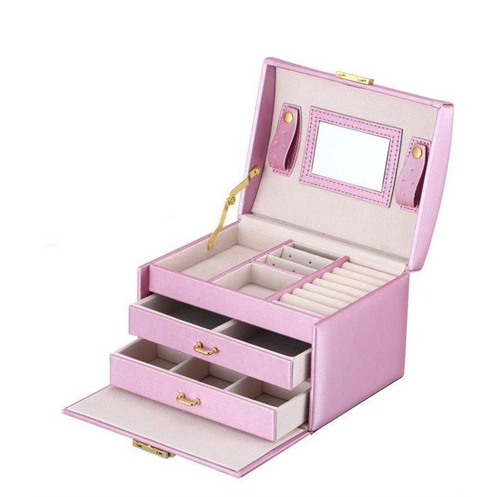 Šperkovnice na šperky i hodinky Růžová Fuzio FI6400