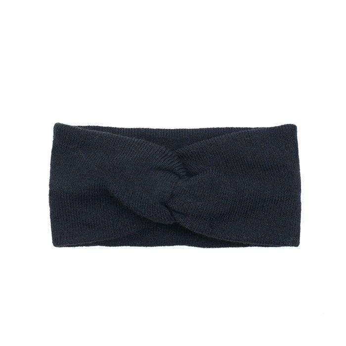 Dámská pletená čelenka Černá Artofpolo FAcz18384ss06