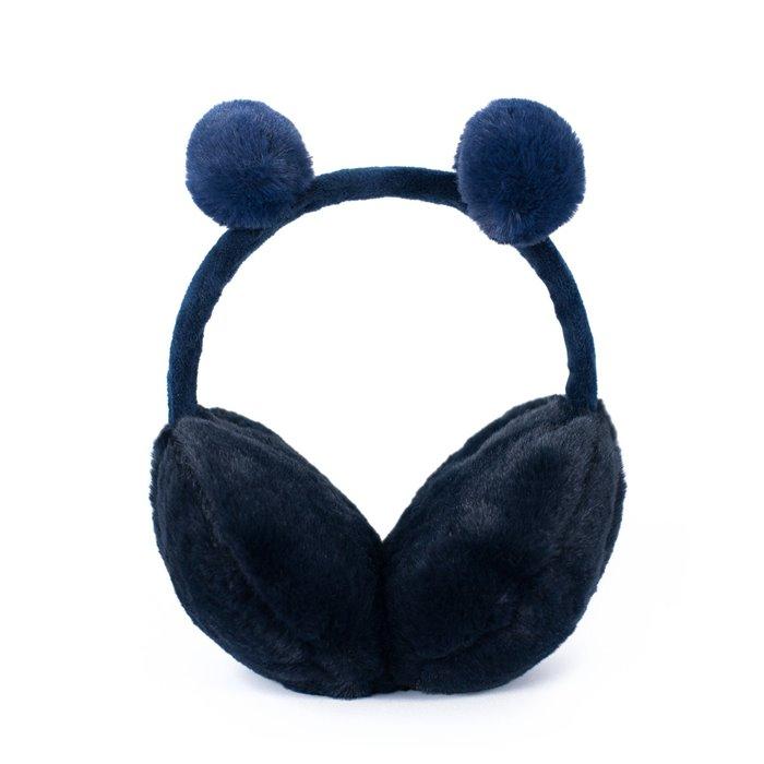 Plyšové klapky na uši Funny bear Modré Artofpolo FAcz19409ss03