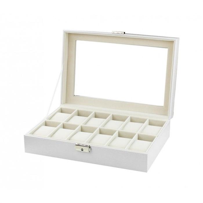 Box na hodinky 12 komor Bílý BMD CARPD98