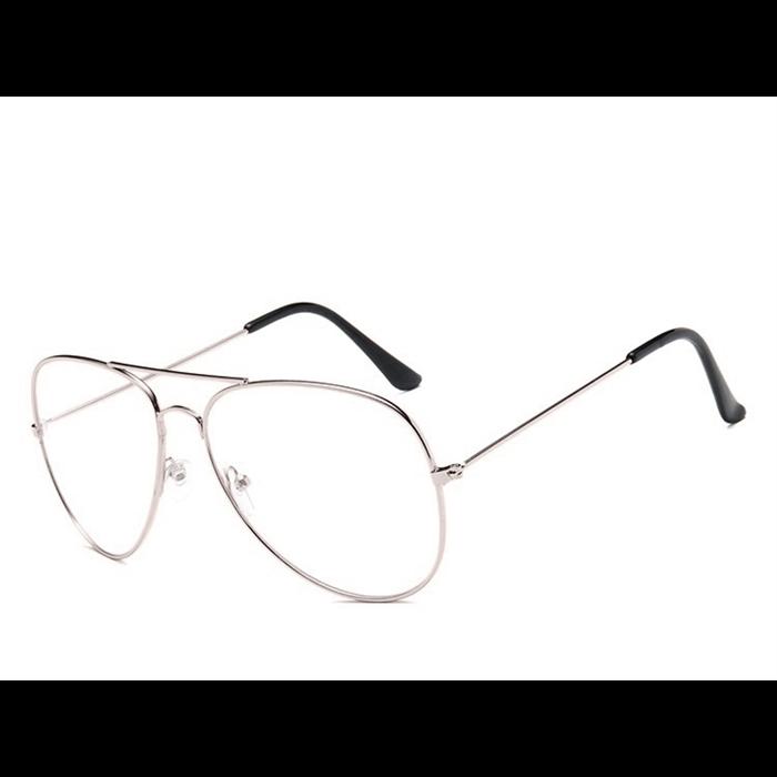 Nedioptrické brýle Pilotky-Aviator Stříbrné Wayfarer style 190402063358S