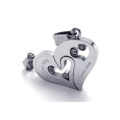 Ocelové přívěsky pro dvojici srdce I love You Impress Jewelry SSDP006