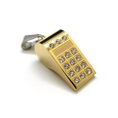 Přívěsek z chirurgické oceli píšťalka zlatá Impress Jewelry SSP029