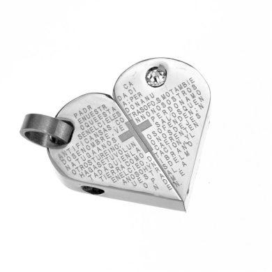 Přívěsek z chirurgické oceli srdce & kříž Impress Jewelry SSP111