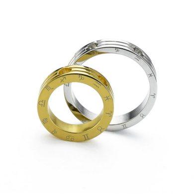 Ocelové přívěsky pro pár - Konstelace zlatý Impress Jewelry SSDP0031