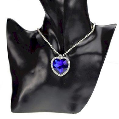 Náhrdelník TITANIC srdce oceánu modré srdce Lifestyle F6932