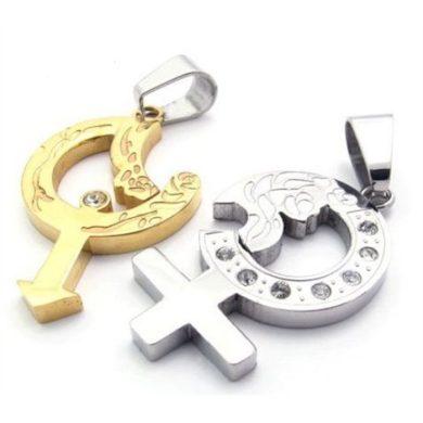 Ocelové přívěsky pro dvojici puzzle Afrodita  Impress Jewelry F0016