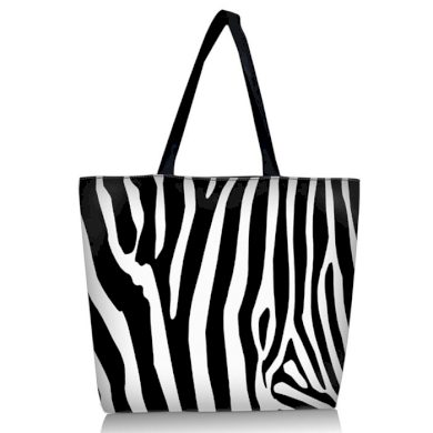 Huado nákupní a plážová taška - Zebra Huado GW-5009