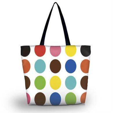 Huado nákupní a plážová taška - Polka dots Huado GW-15013