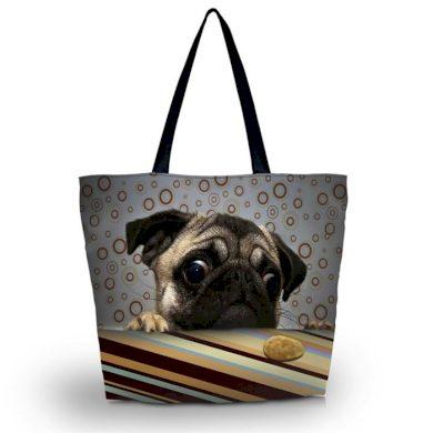 Huado nákupní a plážová taška - Mopsík Huado GW-18252