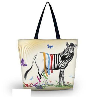 Huado nákupní a plážová taška - Zebra Fun Huado GW-18301