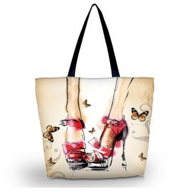 Huado nákupní a plážová taška - Červené lodičky Huado GW-17857