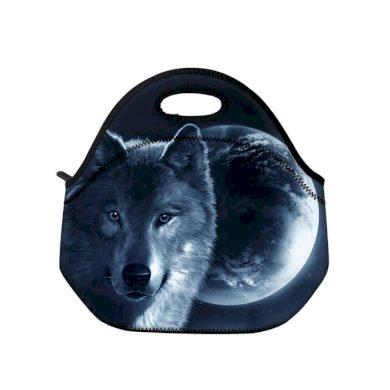 Huado termotaška z neoprénu- Vlk a měsíc Huado TER-16020