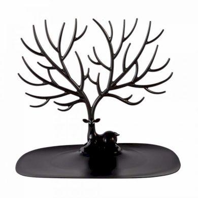 Lohas stojan na šperky černý jelen Fuzio LOHASC123
