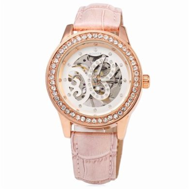 Dámské hodinky Winner Burflly - růžové Winner L8009M3R1