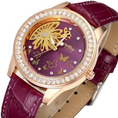 Dámské hodinky Winner Flower- fialové Winner RL8009M3RR3