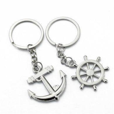 Ocelové klíčenky pro pár - Kormidlo a kotva Impress Jewelry KO74PO