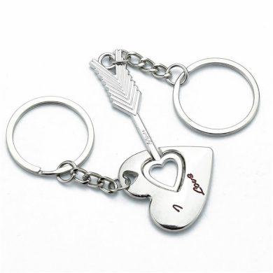 Ocelové klíčenky pro pár Srdce, šíp Impress Jewelry buyincoins.com