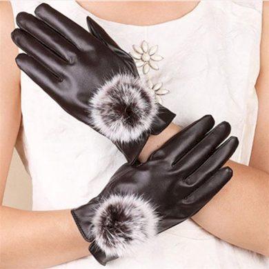Dámské elegantní rukavice - hnědé Cixi RAB-BROWN02