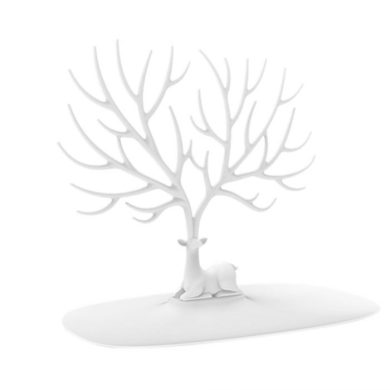 Lohas stojan na šperky bílý jelen Fuzio LOHASWHT