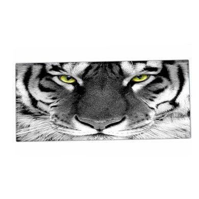 HUADO podložka na stůl 90 cm x 40 cm Tygr černobílý  Huado XM-20371