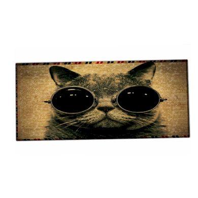 HUADO podložka na stůl 90 cm x 40 cm Kočka s brýlemi Huado XM-25971