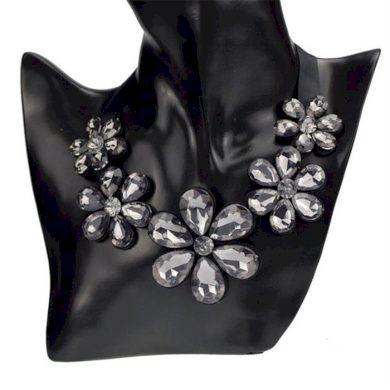 Masivní květinový náhrdelník kouřový Lodestar F63SMOKE