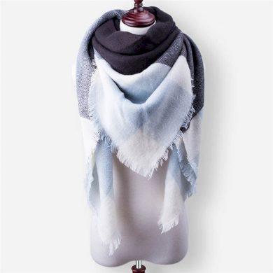 Blanket Dámská šála pončo modročerná 140 cm Cixi F3264-06