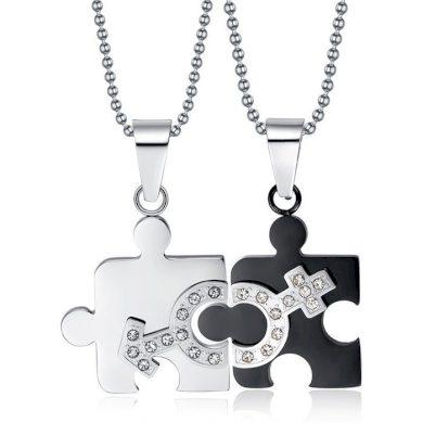 Ocelové přívěsky pro dvojici muž a žena Impress Jewelry F147RRR