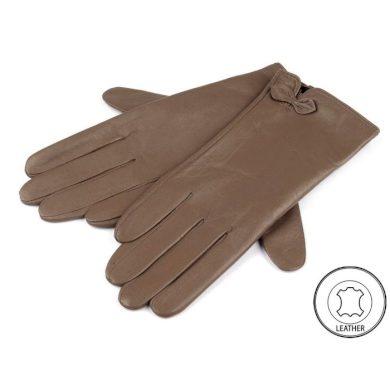 Dámské kožené rukavice hnědé M Cixi F720131-123M
