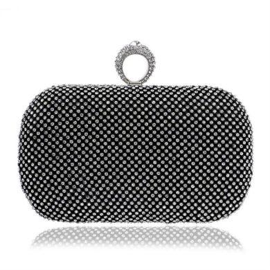 Diamond Společenská kabelka s kamínky černá Lifestyle F95587CC