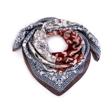 Dámský šátek s ornamenty Paisley 70 cm Hnědý Cixi F720952SS03